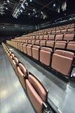 κάθισμα και φως σε λίγο θέατρο Στοκ φωτογραφία με δικαίωμα ελεύθερης χρήσης