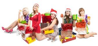 κάθισμα κοριτσιών δώρων Στοκ εικόνα με δικαίωμα ελεύθερης χρήσης