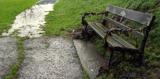 Κάθισμα μετά από την πλημμύρα στοκ φωτογραφίες