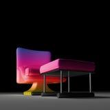 κάθισμα ουράνιων τόξων ενιαίο Στοκ φωτογραφία με δικαίωμα ελεύθερης χρήσης