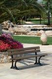 Κάθισμα σε έναν κήπο στοκ εικόνες με δικαίωμα ελεύθερης χρήσης