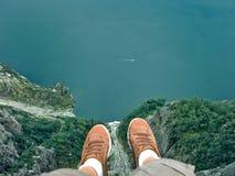 Κάθισμα στο pulpit βράχο Στοκ εικόνα με δικαίωμα ελεύθερης χρήσης