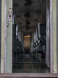 Κάθισμα τραίνων στο τραίνο Στοκ εικόνα με δικαίωμα ελεύθερης χρήσης