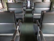 Κάθισμα τραίνων στο τραίνο Στοκ Φωτογραφίες