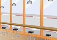 Κάθισμα φραγμών καφέ Στοκ φωτογραφίες με δικαίωμα ελεύθερης χρήσης