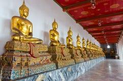 Κάθισμα χρυσό Buddhas στοκ εικόνα με δικαίωμα ελεύθερης χρήσης