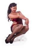 Κάθισμα pinup κόκκινος και μαύρος Στοκ Εικόνες