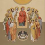 Κάθοδος του ιερού πνεύματος Στοκ εικόνα με δικαίωμα ελεύθερης χρήσης