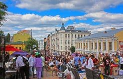Κάθοδος ή Spusk Uzvoz Andriyivskyy με τους προμηθευτές που πωλούν τα αναμνηστικά και που περπατούν τους ανθρώπους, Kyiv στοκ εικόνες με δικαίωμα ελεύθερης χρήσης