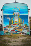 Κάθοδος του Andrew τοιχογραφιών γκράφιτι στοκ φωτογραφία με δικαίωμα ελεύθερης χρήσης
