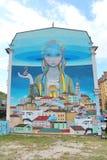 Κάθοδος Andreevsky σε Kyiv, γκράφιτι Στοκ Εικόνες