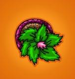 Κάκτος σε ένα δοχείο λουλουδιών απεικόνιση αποθεμάτων