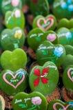 Κάκτος υπό μορφή καρδιάς Στοκ Εικόνες