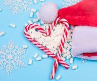 Κάλαμοι καραμελών Χριστουγέννων Στοκ Εικόνα