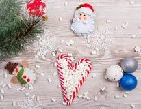 Κάλαμοι καραμελών Χριστουγέννων Στοκ εικόνες με δικαίωμα ελεύθερης χρήσης
