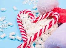 Κάλαμοι καραμελών Χριστουγέννων Στοκ Εικόνες