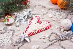 Κάλαμοι καραμελών Χριστουγέννων Στοκ φωτογραφίες με δικαίωμα ελεύθερης χρήσης