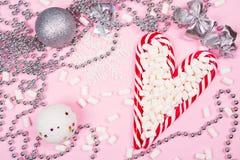 Κάλαμοι καραμελών Χριστουγέννων Στοκ εικόνα με δικαίωμα ελεύθερης χρήσης