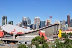Κάλγκαρι Saddledome Στοκ Φωτογραφία