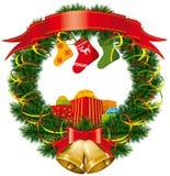 κάλτσα δώρων Χριστουγέννω ελεύθερη απεικόνιση δικαιώματος