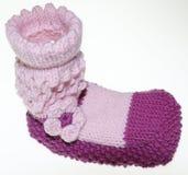 Κάλτσες μωρών κοριτσιών, κάλτσες, gestrick στο ροζ Στοκ Εικόνες