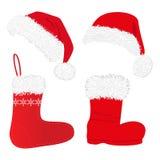 κάλτσες Χριστουγέννων κ&al Στοκ εικόνες με δικαίωμα ελεύθερης χρήσης