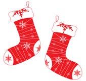 κάλτσες Χριστουγέννων διανυσματική απεικόνιση