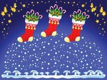 κάλτσες Χριστουγέννων Στοκ φωτογραφία με δικαίωμα ελεύθερης χρήσης