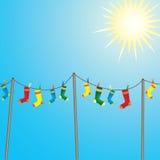 κάλτσες χρώματος Στοκ εικόνες με δικαίωμα ελεύθερης χρήσης