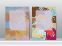 Κάλυψη βιβλίων με το αφηρημένο σχέδιο βουρτσών χρώματος Στοκ φωτογραφία με δικαίωμα ελεύθερης χρήσης