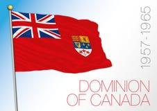 Κάλυψη εξουσιών του Καναδά των όπλων, Καναδάς, ιστορικός λόφος διανυσματική απεικόνιση