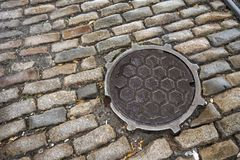 Κάλυψη καταπακτών στο Μπρούκλιν, Νέα Υόρκη Στοκ Φωτογραφία