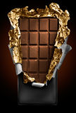 κάλυψη σοκολάτας ράβδων & στοκ φωτογραφία με δικαίωμα ελεύθερης χρήσης