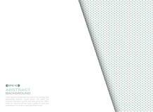 Κάλυψη του ψηφιακού μπλε και πράσινου τετραγωνικού υποβάθρου σχεδίων στοιχείων με το διάστημα αντιγράφων διανυσματική απεικόνιση
