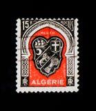 Κάλυψη των όπλων του Αλγερι'ου, καλύψεις των όπλων των αλγερινών πόλεων serie, circa 1949 Στοκ εικόνα με δικαίωμα ελεύθερης χρήσης