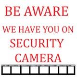Κάμερα ασφαλείας ενήμερα Στοκ φωτογραφία με δικαίωμα ελεύθερης χρήσης