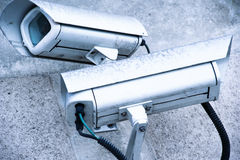 Κάμερα ασφαλείας και αστικό βίντεο Στοκ εικόνες με δικαίωμα ελεύθερης χρήσης