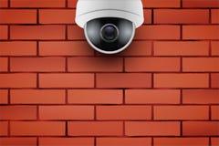 Κάμερα ασφαλείας CCTV στο τουβλότοιχο Στοκ Εικόνες
