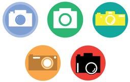 Κάμερα εικονίδια φωτογραφικών μ Στοκ φωτογραφία με δικαίωμα ελεύθερης χρήσης