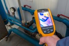 Κάμερα επιθεώρησης θερμικής λήψης εικόνων Στοκ εικόνα με δικαίωμα ελεύθερης χρήσης