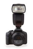Κάμερα και λάμψη φωτογραφιών στοκ φωτογραφίες με δικαίωμα ελεύθερης χρήσης