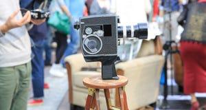 Κάμερα και πλήθος Στοκ εικόνα με δικαίωμα ελεύθερης χρήσης