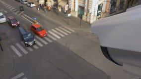 Κάμερα παρακολούθησης πέρα από τη διατομή φωτεινού σηματοδότη απόθεμα βίντεο