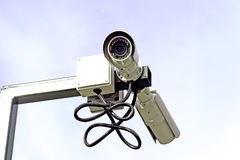 Κάμερα παρακολούθησης και συστήματα Στοκ Εικόνες