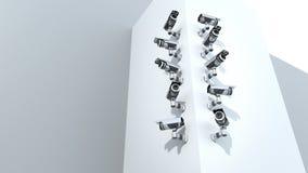 Κάμερα παρακολούθησης, διανυσματική απεικόνιση