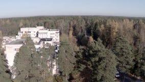 Κάμερα που πετά επάνω πέρα από την πόλη απόθεμα βίντεο