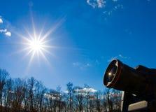 Κάμερα στον ήλιο Στοκ φωτογραφία με δικαίωμα ελεύθερης χρήσης