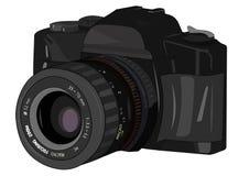Κάμερα στο διάνυσμα Στοκ Εικόνα