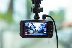 Κάμερα στο μέτωπο ενός αυτοκινήτου στοκ εικόνες