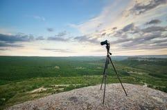 Κάμερα στο τοπ βουνό Στοκ φωτογραφία με δικαίωμα ελεύθερης χρήσης